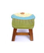 Children Stool Kids Stool Child Stool Wooden Step Stool Cupcake Design C... - $55.00