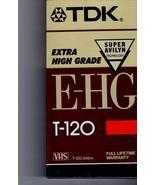 VHS Video Tape TDK T-120 E- HG  VHS Tape - $4.95