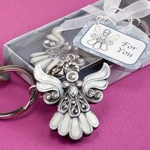 Angel Design Keychain Favor Baptism Gift Christening Wedding Key Chain Religious - $1.73