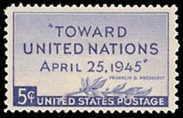 1945 5c United Nations Scott 928 Mint F/VF NH - $0.99