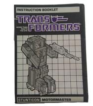 Transformers Original G1 1986 Stunticon Motormaster Instructions Booklet... - $4.95