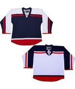 Hockey Jersey Columbus Blue Jackets  NHL Style Replica NO LOGO DJ300 - $44.35