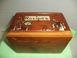 Vintage Wooden Recipe Box - $4.99