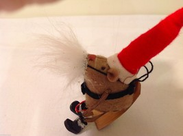 Vintage look Handmade Felt Mouse Ornament in Santa's Beard and Hat NO Candycane image 5