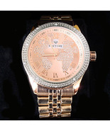 IceTime .10 Cttw Diamond Rose Gold Plated Stainless Continental Diamond ... - $68.31