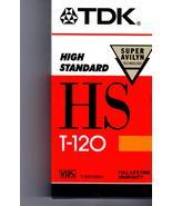 VHS - TDK T-120 HS  VHS Tape - $4.95