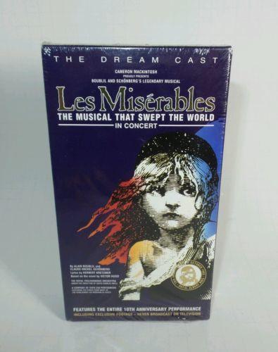 VINTAGE VHS LES MISERABLES MUSICAL CONCERT 10TH ANNIVERSARY ISBN 0-8001-9431-4