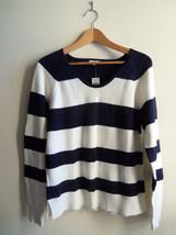 GAP Women's Striped Sweater 100% Cotton White/Navy Size M, NWT - $35.99