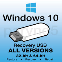 WINDOWS 10 Recovery Reinstall Boot Restore USB Flash Drive Recover - $11.99