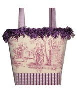 Purple Purse, Purple Tote Bag, Romantic Purple Toile Purse - $68.00