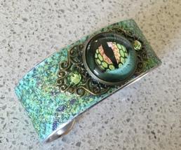 Renaissance/Medieval/LARP Green Dragon Cuff Bangle Bracelet 2 - $10.25
