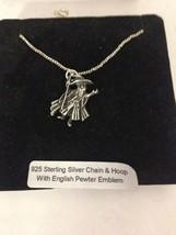 Flying Scotsman R136 Emblem on a 925 Sterling Silver Necklace 16,18,20,26,30