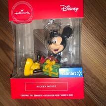Hallmark Disney Mickey Mouse with Present Christmas Tree Holiday Ornamen... - $18.00