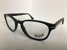 New Persol 3085-V 9000 Black 53mm Oval Rx Women's Eyeglasses Frame Italy  - $99.99