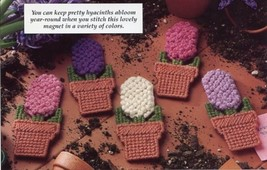 Lovely Hyacinths & Little Lambs Magnets Plastic Canvas Pattern 30 Days T... - $1.77