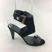 Nine West Pumps Ankle Cuff Black Leather 9 M - $23.38