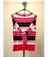 HALOGEN Boat Neck Striped Sweater - $20.00