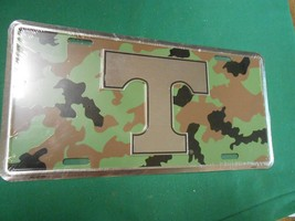 "Great New License Plate Tag- University Of Tennessee....""Camo"" Design - $17.41"