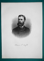 CHARLES TAFT Half Brother of President Taft - 1881 Superb Portrait Print - $16.20