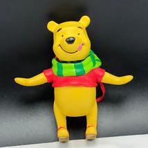 WINNIE POOH CHRISTMAS ORNAMENT Walt Disney figurine bobblehead bobble he... - $24.75