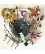 Big Mens Junk Drawer Lot-Random Cool Stuff Vtg Figurine Necklace Spoon N... - $23.36