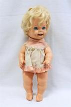 "ORIGINAL Vintage 1971 Mattel 16"" Tearful Cheerful Baby Doll - $49.49"