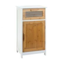 Floor Cabinet, Contemporary Bamboo Bathroom Living Room Wooden Floor Cab... - $190.11
