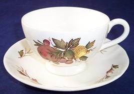 Wedgwood of Etruria & Barlaston Drury Lane Footed Cup & Saucer Set, England - $9.74