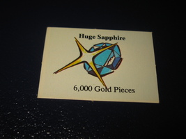 1980 TSR D&D: Dungeon Board Game Piece: Treasure 5th Level Card- Gold Ring - $1.00