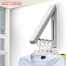 Foldable Drying Towel Rack Stainless Steel Wall Hanger Retractable Indoor - £22.69 GBP