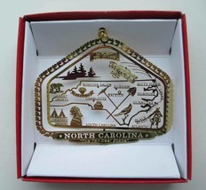 North Carolina State Brass Ornament - $14.95