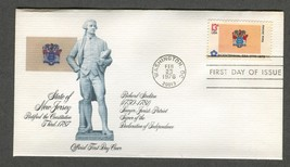 Feb 23 1976 State Flags: New Jersey #1635 FDC Fleetwood - $5.49