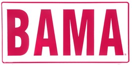 Alabama BAMA Red Letters on White Embossed Metal License Plate Auto Tag Sign - $6.95