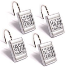 Popular Bath Sinatra Silver Collection - Bathroom Shower Curtain Hooks - $13.99