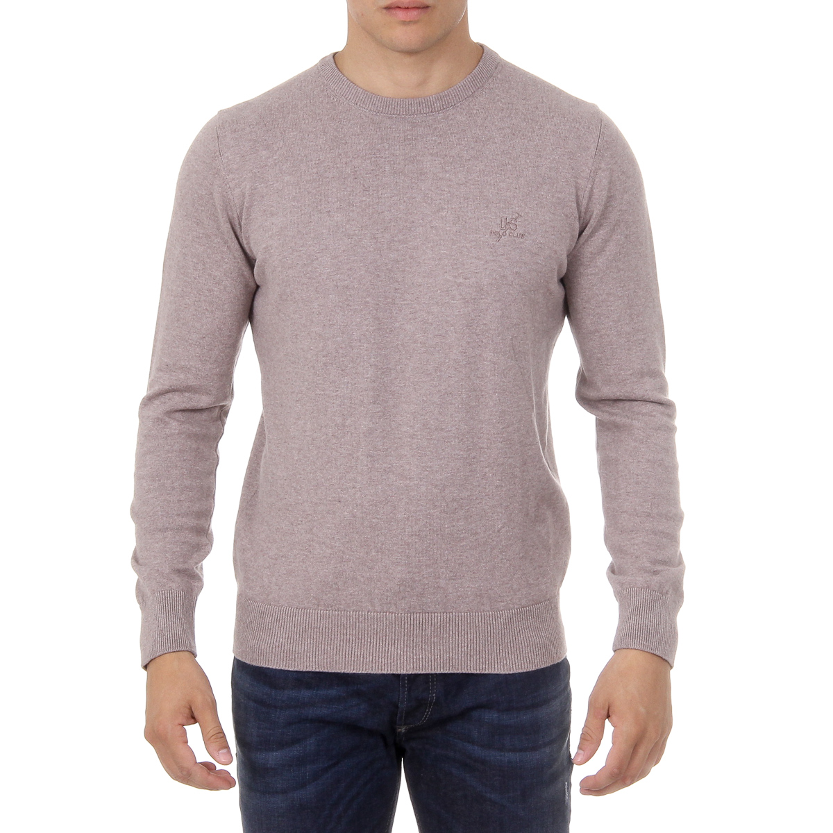 Primary image for Ufford & Suffolk Polo Club Mens Sweater Long Sleeves Round Neck PULLRUS100 VISON