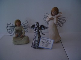 WillowTree figurines-thinkng of you+angel of kindness&NIB Ganz Angel of ... - $19.80