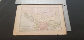 1800s Macedonia, Thracia Antique Color Map From William Collins Sons Co  - $19.32