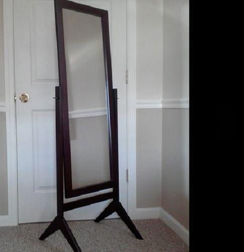 Floor Mirror Full Length Cheval Standing Tilting Wood Framed Bedroom Dressing