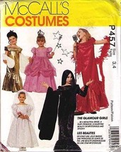 1992 GLAMOUR GIRLS COSTUME Pattern P457-m Child Sizes 3-4 - UNCUT - $12.59