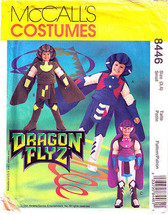 1996 CHILD'S DRAGON FLYZ COSTUME Pattern 3742-s Size 3,4 - UNCUT - $12.59