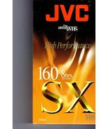VHS - JVC  Video Tape T-160 High Performance  8 Hours SX VHS Tape - $7.00