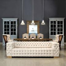 """98"""" Sofa  Soft Linen Button Tufted 6 Place Oak Wood,Fabulous! - $2,325.51"""