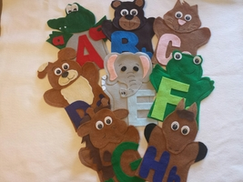 ABC Alphabet Puppets - $40.00