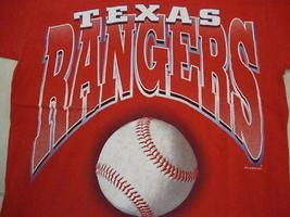 Vintage MLB Texas Rangers Baseball Fan Classic Throwback Red T Shirt M - $18.02