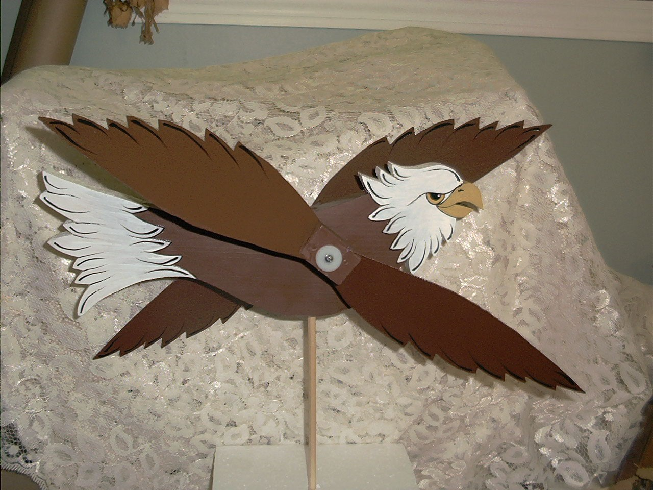Handcrafted Whirligig American Eagle