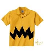 Retro NEW Charlie Yellow Zig Zag kids boys girl... - $14.99