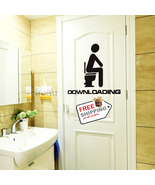2pcs Toilet Sticker Creative Waterproof Bathroom Home Decoration - $11.00