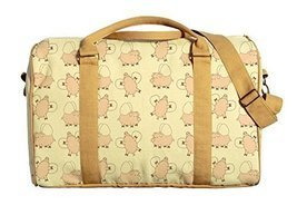 Vietsbay Women Flying Pig Printed Oversized Canvas Duffle Travel Bag - $33.22