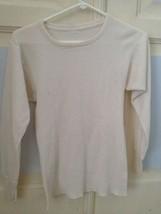 thermal shirt size medium long sleeve cream colored shirt thermal - $24.99