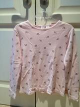 Cherokee Flowered Print Pink Top Long Sleeve Size Medium - $24.99